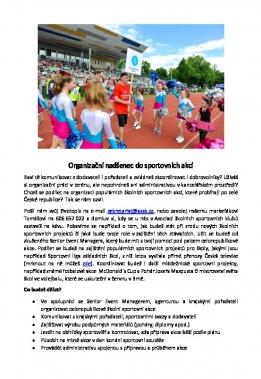 Organizační nadšenec do sportovních akcí