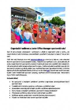 Organizační nadšenec a Junior Office Manager sportovních akcí