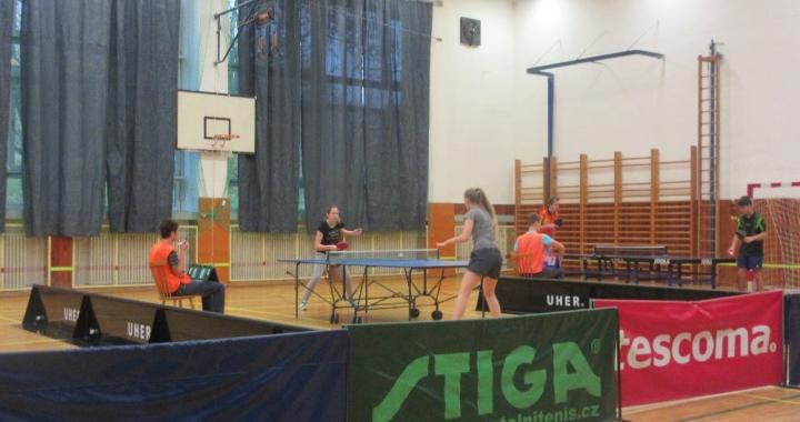 Krajské kolo ve stolním tenise v Želechovicích