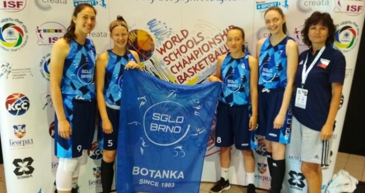 České basketbalistky vybojovaly sedmé místo na MS škol