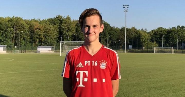 Školní fotbalová hvězda Filip Vecheta na stáži v Bayernu Mnichov